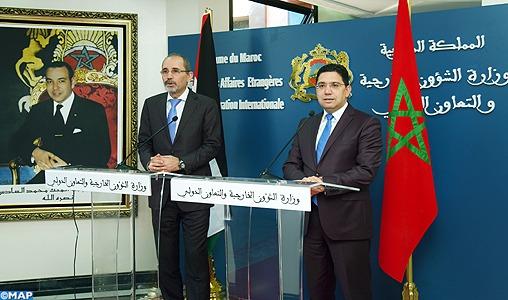 Le Maroc et la Jordanie partagent les mêmes visions sur toutes les questions régionales