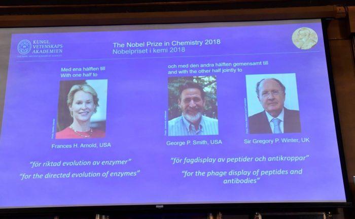 Le Nobel de chimie 2018 à deux chercheurs américains et un Britannique