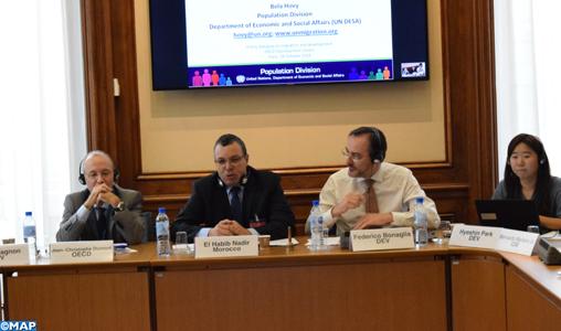 Paris: l'Observatoire africain des migrations proposé par SM le Roi au cœur d'une rencontre au siège de l'OCDE