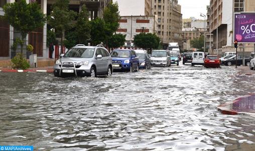 Pluies localement fortes jeudi dans plusieurs provinces du Royaume