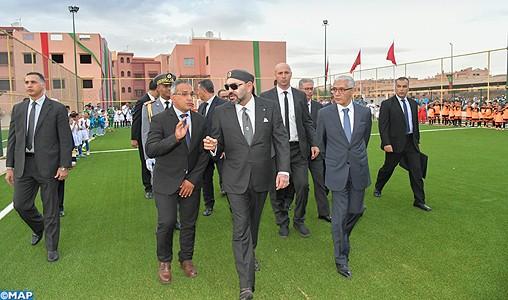 SM le Roi inaugure à Marrakech deux projets sportifs de proximité