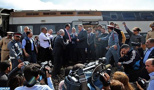 Déraillement de train: SM le Roi donne Ses Hautes instructions pour l'évacuation des blessés à l'hôpital militaire de Rabat