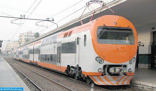 Rétablissement du trafic ferroviaire entre Salé-Kénitra à partir du jeudi à 06h00