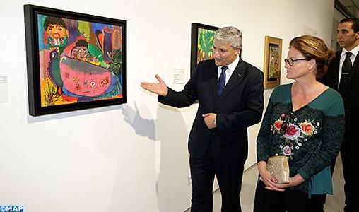 """Rabat: vernissage de l'exposition """"Chaibia Talal, Fatima Hassan El Farrouj et Radia Bent Lhoucine : Voyage aux sources de l'art"""""""