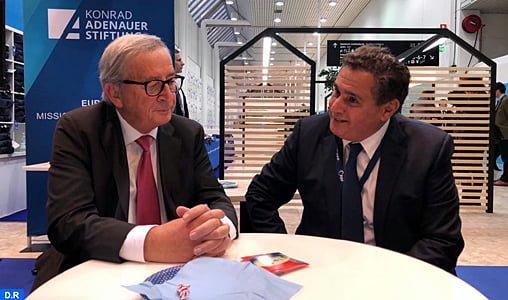 Akhannouch s'entretient à Helsinki avec des responsables européens