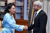 Mme Boucetta représente SM le Roi à la cérémonie d'investiture du nouveau Président des Maldives