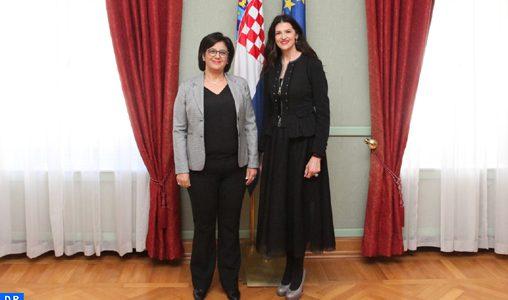 Le renforcement de la coopération parlementaire au centre d'entretiens entre le Maroc et la Croatie