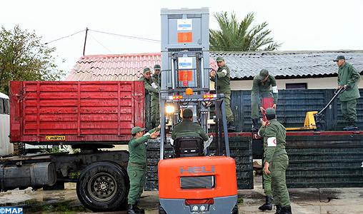 Convoi médical de l'hôpital de campagne des FAR de Rabat à destination d'Anfgou