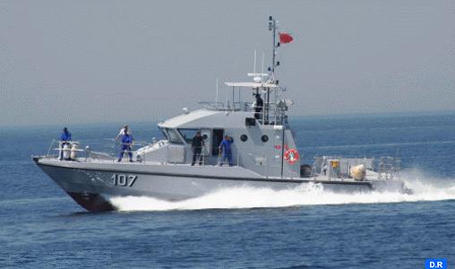 Emigration clandestine : La Marine royale porte secours à 53 Subsahariens en détresse au large de Nador
