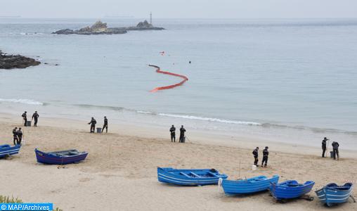 Avortement d'une tentative d'émigration clandestine dans la région de Tanger