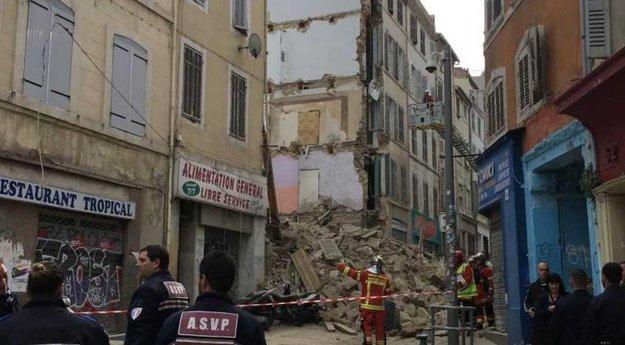 France : effondrement d'un immeuble dans le centre-ville de Marseille