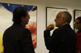 """Vernissage à Rabat de l'exposition """"La continuité d'une touche"""" de l'artiste peintre Mustapha Yesfi"""