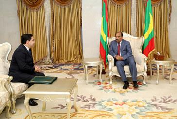 Bourita, porteur d'un message de SM le Roi, reçu à Nouakchott par le Président mauritanien