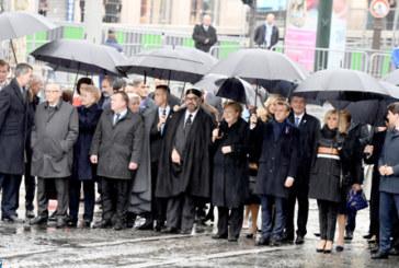 SM le Roi prend part au déjeuner offert par le Président français à l'occasion de la commémoration du centenaire de l'Armistice