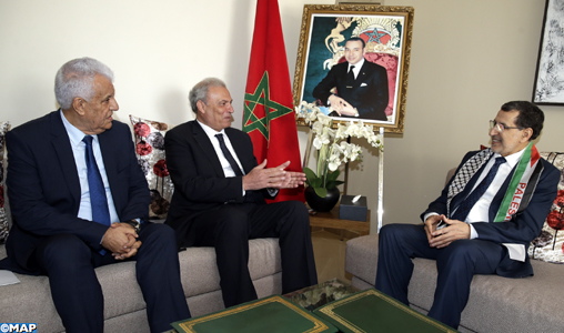 El Otmani s'entretient avec le vice-Premier ministre palestinien sur la coopération bilatérale