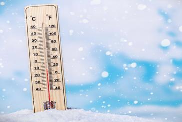 Températures minimales et maximales prévues pour la journée du lundi 14 janvier 2019