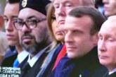 Sa Majesté à côté de Trump, Macron et Poutine