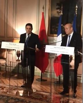 Point de presse de la rencontre entre Nasser Bourita et Jean-Yves Le Drian
