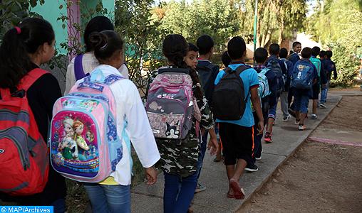 Casablanca-Settat: Adoption de nouveaux horaires scolaires à compter du 12 novembre
