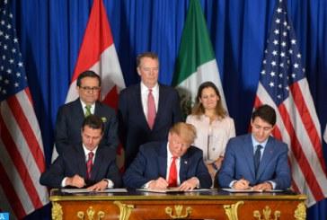 Signature du nouveau traité de libre-échange Mexique-Canada-Etats-Unis