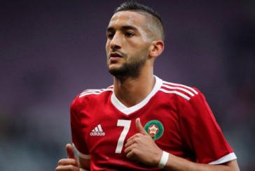 """Football: Hakim Ziyech sacré """"Lion d'or 2018"""""""