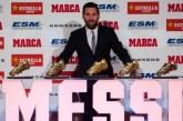 Lionel Messi reçoit son 5ème Soulier d'Or Européen