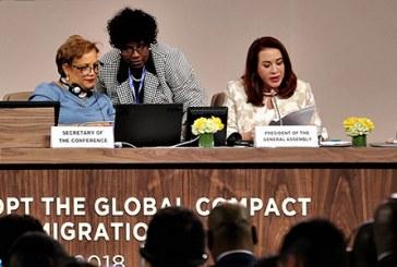 """Le Pacte de Marrakech, """"une réponse mondiale à une réalité que ne nous pouvons affronter qu'ensemble"""""""