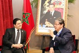 Bourita s'entretient à Marrakech avec le ministre colombien des Affaires étrangères