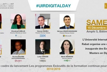 """UIR DIGITAL DAY"" carrefour d'échanges et de partages"