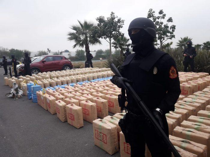 Saisie de près de 10 tonnes de résine de cannabis dans les environs d'El Jadida