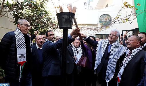 L'ambassade de Palestine à Rabat célèbre le 54ème anniversaire du déclenchement de l'Intifada