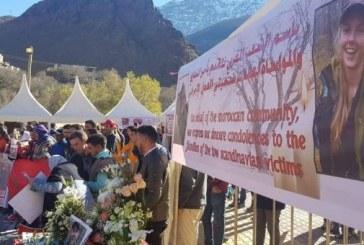 Sit-in de solidarité à Imlil pour condamner le meurtre odieux des deux touristes