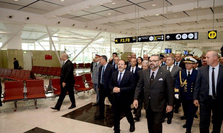 SM le Roi inaugure le nouveau Terminal 1 de l'aéroport Mohammed V de Casablanca et lance la mise en service de plusieurs infrastructures aéroportuaires de portée nationale