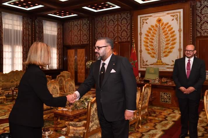 SM le Roi Mohammed VI reçoit Federica Mogherini au Palais Royal de Rabat