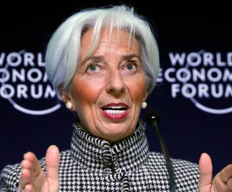 Christine Lagarde à Davos