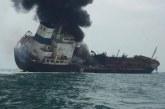 Un pétrolier en flammes au large d'Hong Kong, un mort
