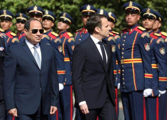 Macron en visite officielle en Egypte