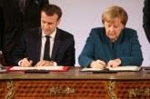 Macron et Merkel signent un nouveau traité, attaqué par les nationalistes