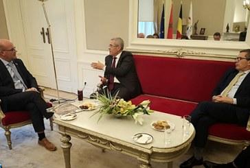 Ben Abdelkader rencontre à Bruxelles le président du Parlement de la Fédération Wallonie-Bruxelles