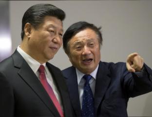 Le president chinois et le directeur de Huawei à Londres, Reuters