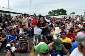 La caravane de migrants honduriens arrive à la frontière mexicaine