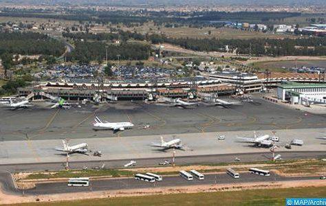 l'aéroport international Mohammed V