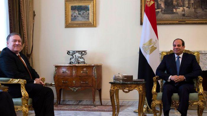 Visite de Mike Pompeo au Caire et rencontre avec Al Sissi