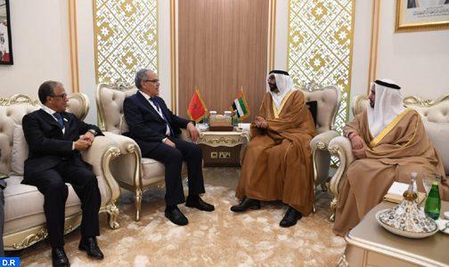 Abdellatif Loudiyi s'entretient à Abu Dhabi avec le ministre d'Etat émirati chargé de la Défense