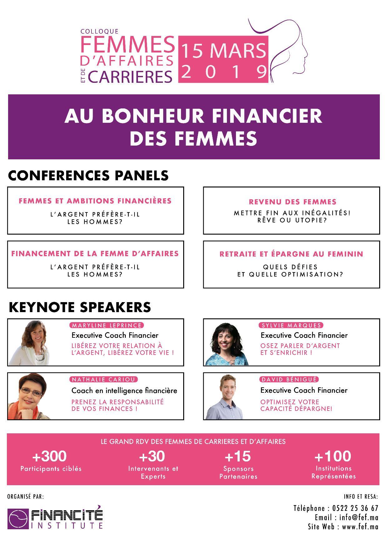 Colloque Femmes D'affaires et de Carrières le 15 mars 2019