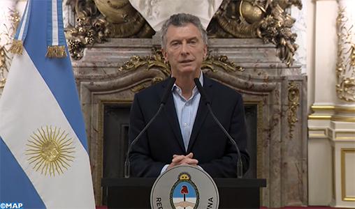 Le président argentin