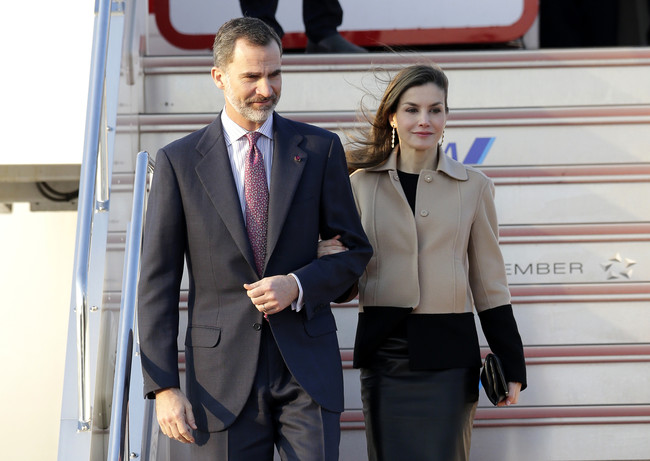 Arrivée au Maroc de SM le Roi Felipe VI d'Espagne et de la Reine Dona Letizia