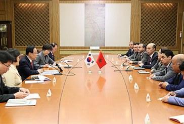 Une délégation parlementaire marocaine s'entretient avec le premier vice-président de l'Assemblée nationale sud-coréenne
