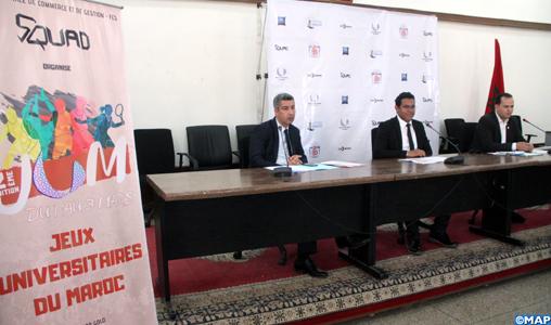 Quelque 400 participants aux 2-èmes jeux universitaires du Maroc, du 1-er au 3 mars à Fès