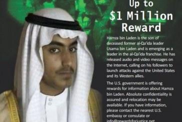 Les États-Unis vont payer 1 million de dollars pour des informations sur le fils d'Oussama Ben Laden